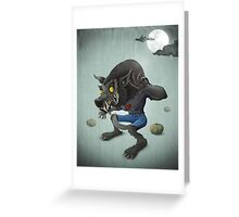 Halloween Wolfman Greeting Card