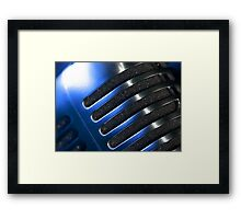 Microphone macro abstract Framed Print