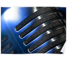Microphone macro abstract Poster
