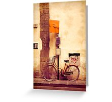 Bicycle red Greeting Card