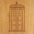 TARDIS ENGRAVED PHONE CASE by viperbarratt