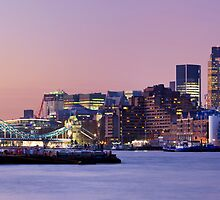 Tower Bridge and The City Skyline, London by Justin Foulkes