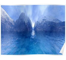Blue Waters Mist Poster