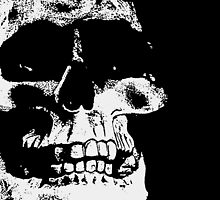 The Skull - Black and White Art Prints by Denis Marsili
