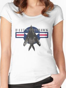 F-117 Nighthawk Women's Fitted Scoop T-Shirt