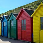 Beach Huts by rubyrainbow