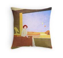The Desert Motel Throw Pillow