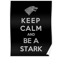 Keep Calm And Be A Stark (Color Version) Poster
