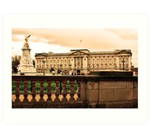 A View of Buckingham Palace Art Print