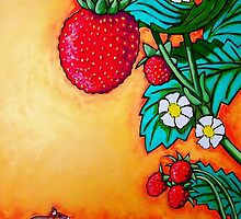 Alpine Strawberry & Mouse by artgardener