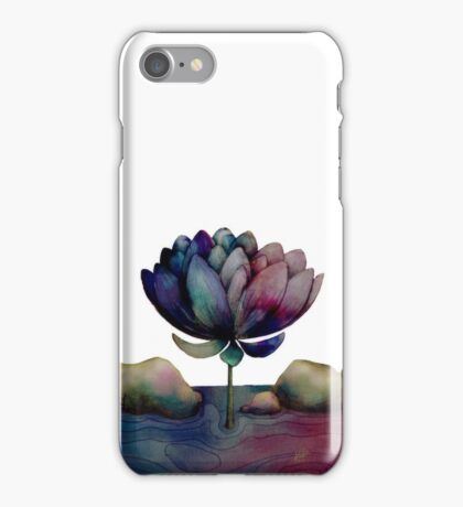 rainbow lotus flower iPhone Case/Skin