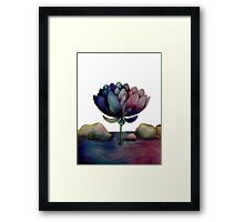 rainbow lotus flower Framed Print