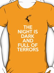 House Baratheon The Night Is Dark And Full Of Terrors T-Shirt