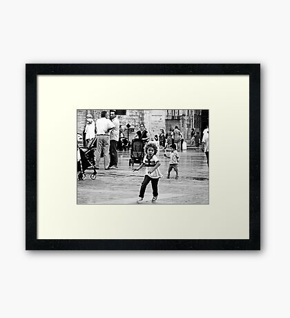 The Pigeon Hunter Framed Print
