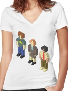 Isometric IT Crowd Trio Women's Fitted V-Neck T-Shirt