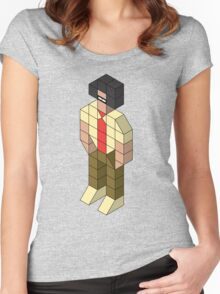 Isometric Moss Women's Fitted Scoop T-Shirt