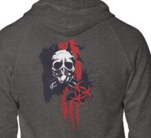 Polka Trash Holocaust Skull Tattoo Design Zipped Hoodie