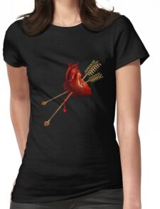 DAMAGED NATIONS Womens Fitted T-Shirt
