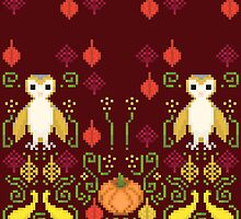 Pixel/8-bit Fall Season by Kadoodles
