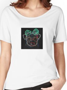 UV Pug Tee  Women's Relaxed Fit T-Shirt
