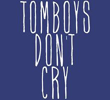 tomboys don't cry (white) Womens Fitted T-Shirt