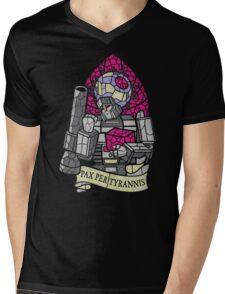 Pax Per Tyrannis Mens V-Neck T-Shirt