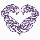 Celtic Heart - Purple trim only by portiswood