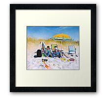 Symphony of Shadows - The Beach Scene Framed Print