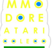 arcade eye chart Sticker