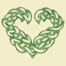 Celtic Heart - Green trim only by portiswood