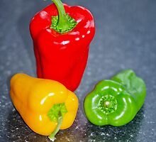 Shiny Peppers by Margaret S Sweeny