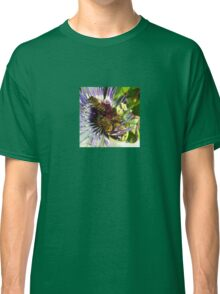 Passion Flower and Honey Bees Collecting Pollen Classic T-Shirt