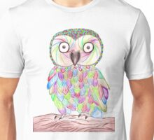 Rainbow Owl Unisex T-Shirt