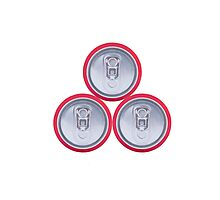 Three drink cans Photographic Print