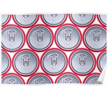 Pattern drink cans Poster