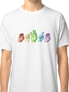 CTFxC in American Sign Language (Colors) Classic T-Shirt