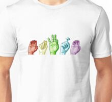 CTFxC in American Sign Language (Colors) Unisex T-Shirt