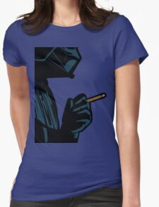 Darth Vader Smoking Cigarette Womens Fitted T-Shirt