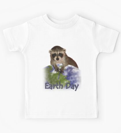 Earth Day Raccoon Kids Tee