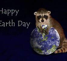 Happy Earth Day Raccoon by jkartlife