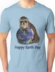 Happy Earth Day Raccoon Unisex T-Shirt