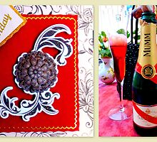 Happy Birthday & Champagne by ©The Creative  Minds