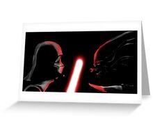 Darth Vader vs Alien Greeting Card