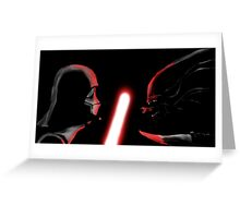 Darth Vader vs Alien Greeting Card