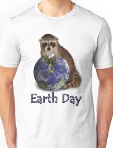 Earth Day Raccoon Unisex T-Shirt