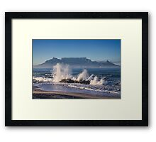 Table Mountain Splash Framed Print
