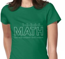 Math. The only subject that counts Womens Fitted T-Shirt