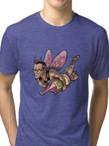 SheVibe Presents The Sliquid Dean Sprite - Pink Tri-blend T-Shirt
