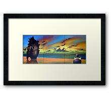 Watcher on the Beach Framed Print