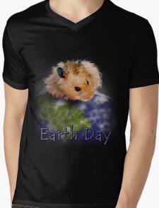 Earth Day Hamster Mens V-Neck T-Shirt